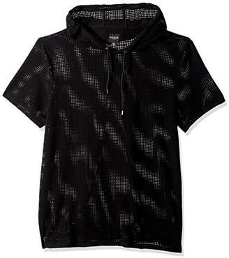 GUESS Men's Short Sleeve Alder Mesh Hoody