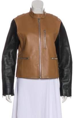 Alexander Wang Colorblock Leather Jacket