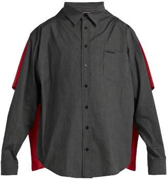 Balenciaga Double-layered convertible shirt