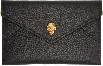 Alexander McQueen Black Skull Card Holder $195 thestylecure.com