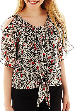 JCPenney BY AND BY by & by Cold-Shoulder Blouse