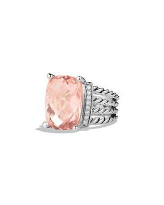 David Yurman Wheaton Ring with Morganite and Diamonds $1,025 thestylecure.com