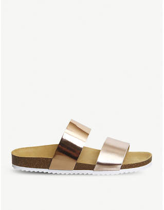 Office Oslo 2 two-tone metallic slider sandals
