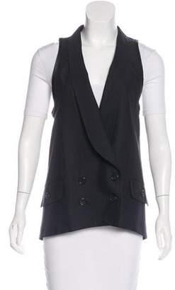 Proenza Schouler Wool & Silk Double Breasted Vest
