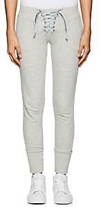 NSF Women's Lace-Up Cotton French Terry Sweatpants-Light Gray