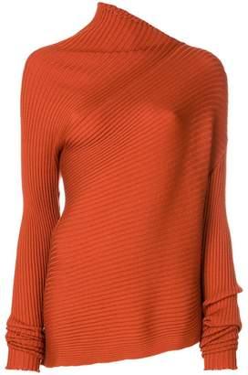 Marques Almeida Marques'almeida Asymmetric ribbed sweater