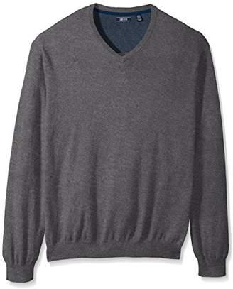 Izod Men's Big and Tall Fine Gauge Solid V-Neck Sweater