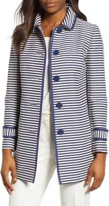 Anne Klein Stripe Topper Jacket
