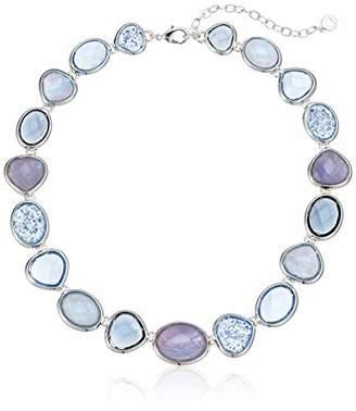 Anne Klein Women's Silver Tone Stone Necklace