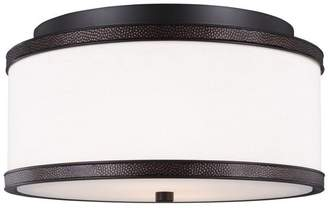 Feiss Marteau 2-Light Indoor Flush Mount, Oil Rubbed Bronze