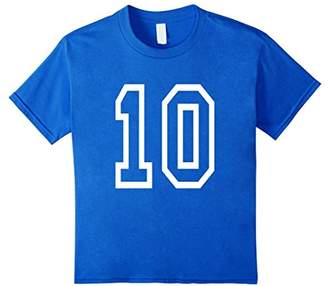 Number Ten T-shirt College Style