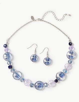 Marks and Spencer Spiral Necklace & Earrings Set