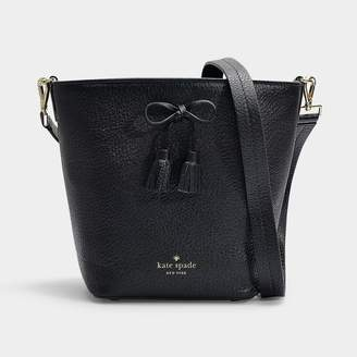 Kate Spade Hayes Street Vanessa Bucket Bag In Black Pebble Le
