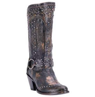 Dan Post Women's Sexy Back Studded Fashion Western Boot Round Toe 10 M