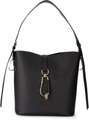 Zac Posen Belay Black Leather Bucket Bag