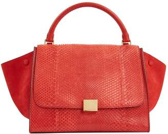 Celine Trapeze Red Python Handbags