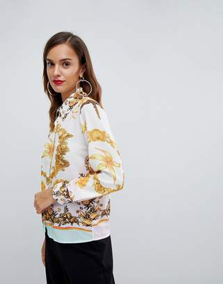 Forever Unique scarf print shirt