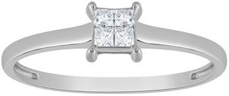 Affinity Diamond Jewelry Affinity 14K Gold 1/10 cttw Square Invisible Set Diamond Ring
