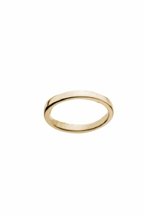 Jennifer Zeuner Thin Band Rosa Ring in Yellow Gold