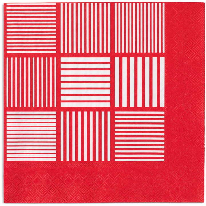 Rosendahl - Nanna Ditzel Papierservietten, rot / weiß