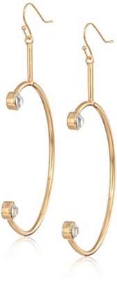 GUESS Women's Fishhook Hoop Earrings with Stones