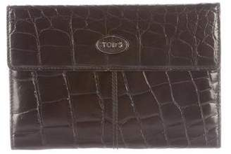 Tod's Crocodile Continental Wallet