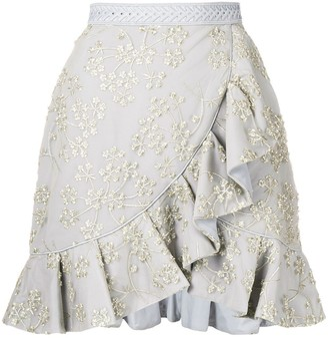 Self-Portrait asymmetric frill skirt