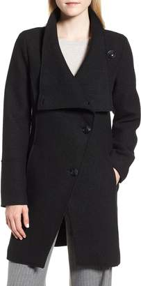 Halogen Boiled Wool-Blend Asymmetrical Coat