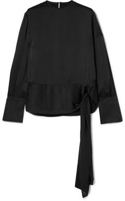 Stella McCartney Silk-satin Top - Black