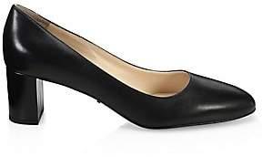 Prada Women's Block-Heel Leather Pumps