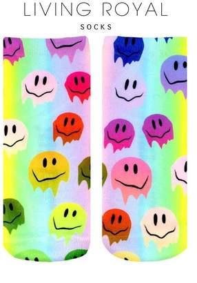 LIVING ROYAL Melting Smiley Socks
