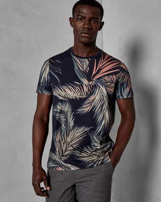 Ted Baker PENCIL Leaf print cotton T-shirt