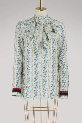 Gucci New Buds Sequence silk shirt