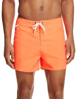 SUNDEK Solid Low Rise Board Shorts $109 thestylecure.com