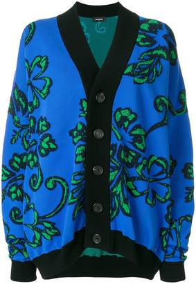 DSQUARED2 floral button cardigan