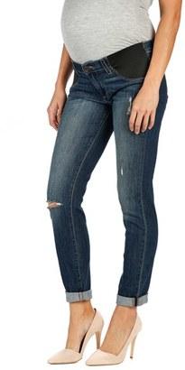 Women's Paige 'Jimmy Jimmy' Boyfriend Skinny Maternity Jeans $209 thestylecure.com
