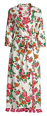 Rhode Resort Women's Lena Long Floral Wrap Dress