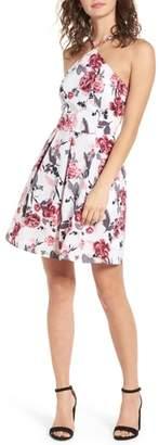 Speechless Halter Fit & Flare Dress