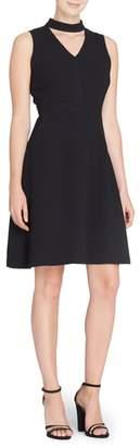 Catherine Malandrino Wendy Choker Fit & Flare Dress