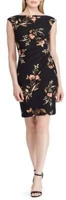 Lauren Ralph Lauren Floral Jersey Cap-Sleeve Dress