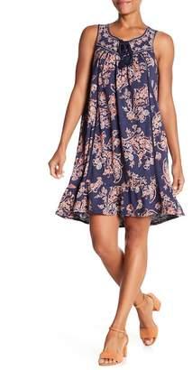 Democracy Hi-Lo Printed Lace-Up Dress
