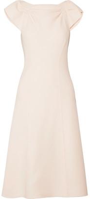 Bottega Veneta - Wool-crepe Midi Dress - Blush $1,780 thestylecure.com