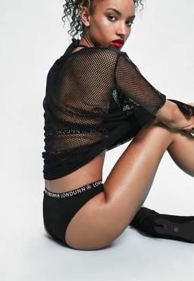 Missguided Londunn + Black Logo Panties