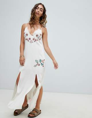 Somedays Lovin Still Light Embroidered Beach Dress