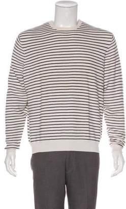 Ralph Lauren Purple Label Striped Cashmere & Silk Sweater