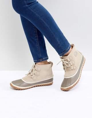 Sorel Out N About Beige Waterproof Flat Boots
