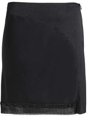 Paco Rabanne Appliquéd Crepe-Satin Mini Skirt