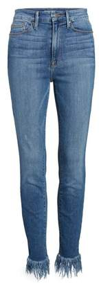 Good American Good Waist Extreme Fray Skinny Jeans