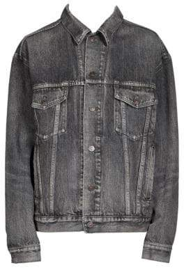 Balenciaga Embossed Denim Jacket