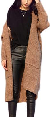 Suvotimo Women Casual Winte Open Front Classic Knit Cardigans Outerwear Jackets